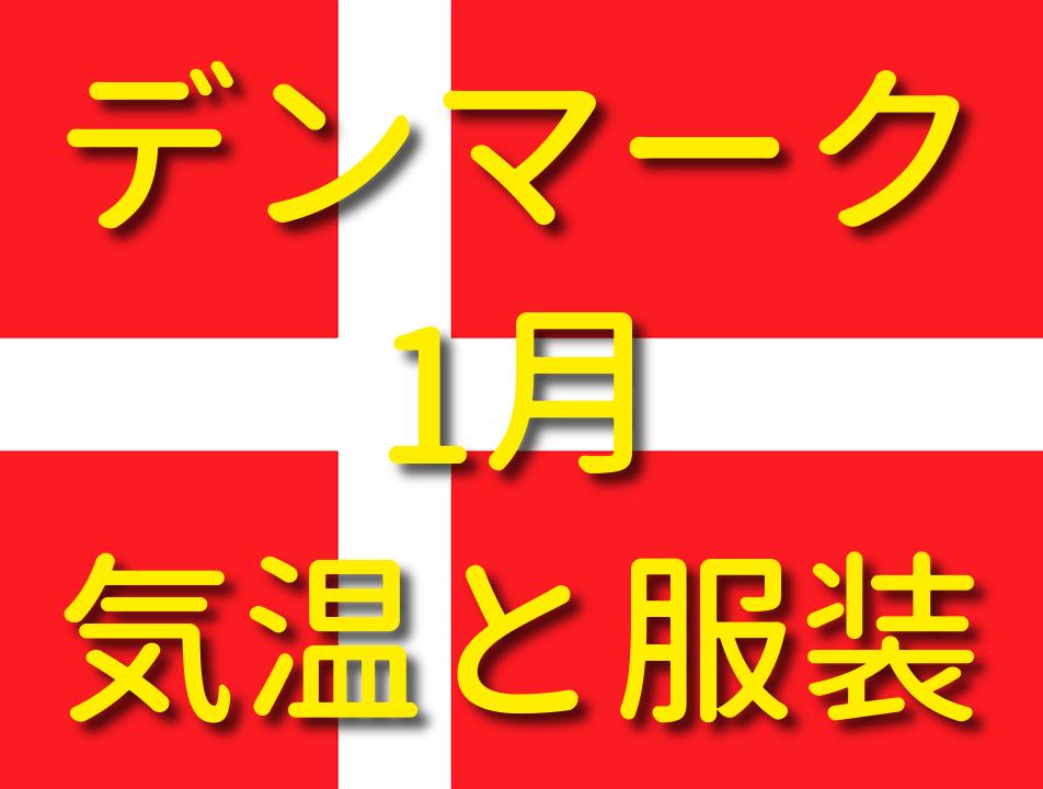 デンマークの1月の気温と服装